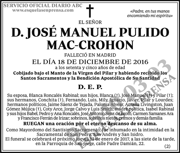 José Manuel Pulido Mac-Crohon